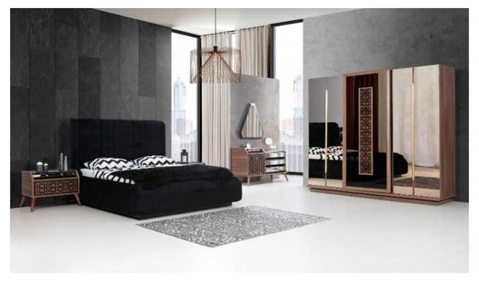 Felix Yatak Odası Siyah Ceviz