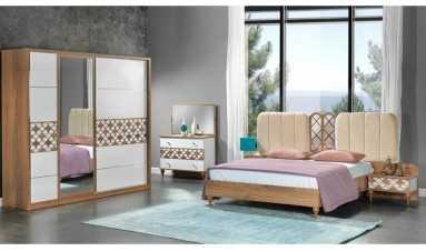 Akdeniz Yatak Odası Beyaz