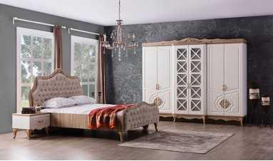 Balat Yatak  Odası Takımı Krem Rengi