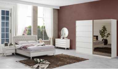 Luna Yatak Odası Takımı Beyaz