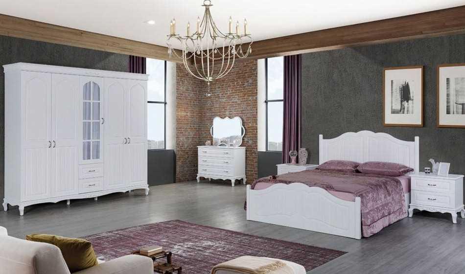 Ecrin Beyaz Yatak Odası