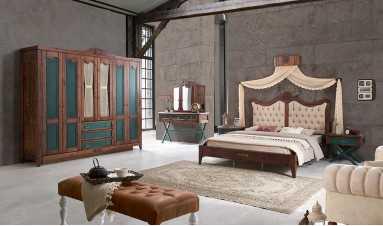 Green Vintage Yatak Odası Takımı