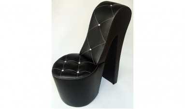 Dikişli Topuk Ayakkabı Koltuk Siyah
