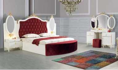 Oscar Yatak Odası Bordo Beyaz