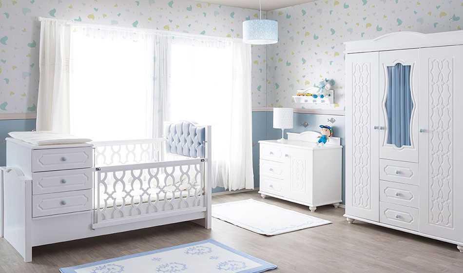 Capris Bebek Odası Mavi