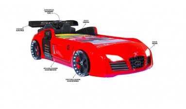 Turbo V8 Arabalı Karyola Kırmızı