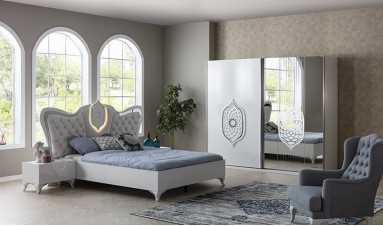 Tuğra Beyaz Yatak Odası Takımı
