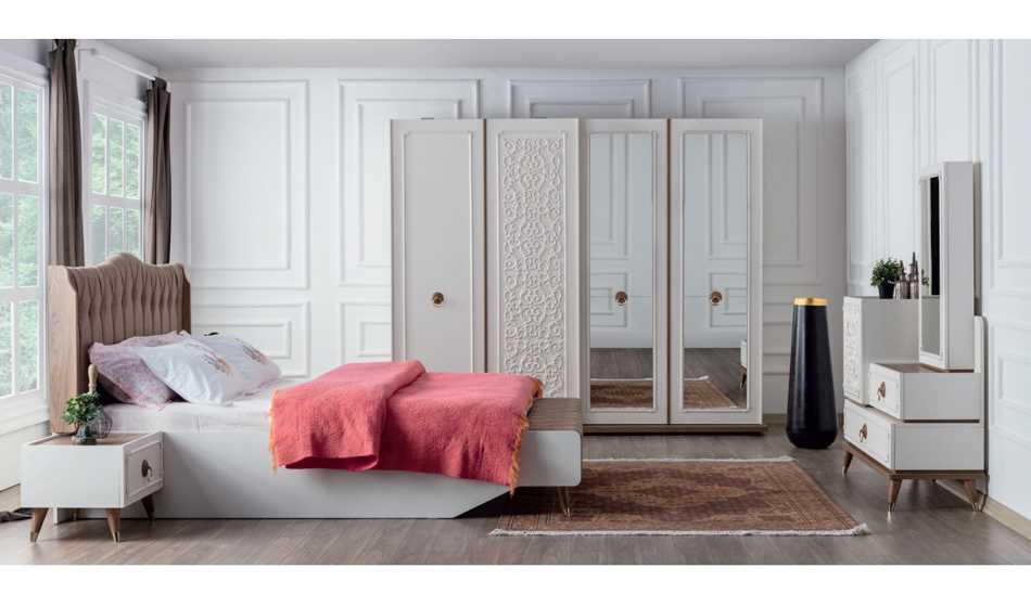 Boston Krem Yatak Odası